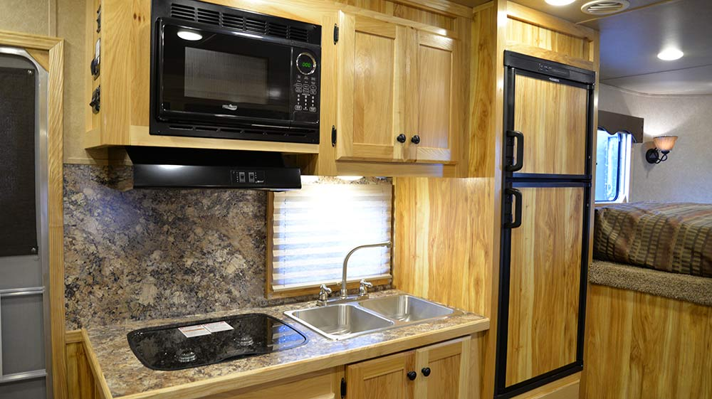 Kitchen in Charger C8X15BB Horse Trailer | Lakota Trailers