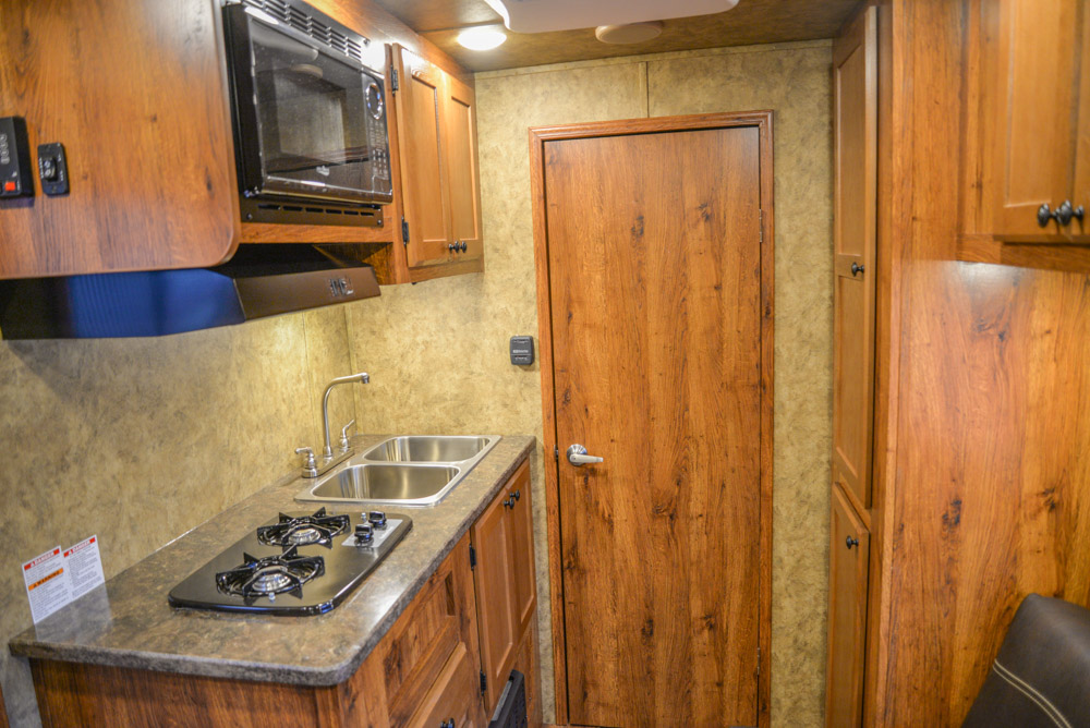 Kitchen in a AC311 Colt | Lakota Trailers