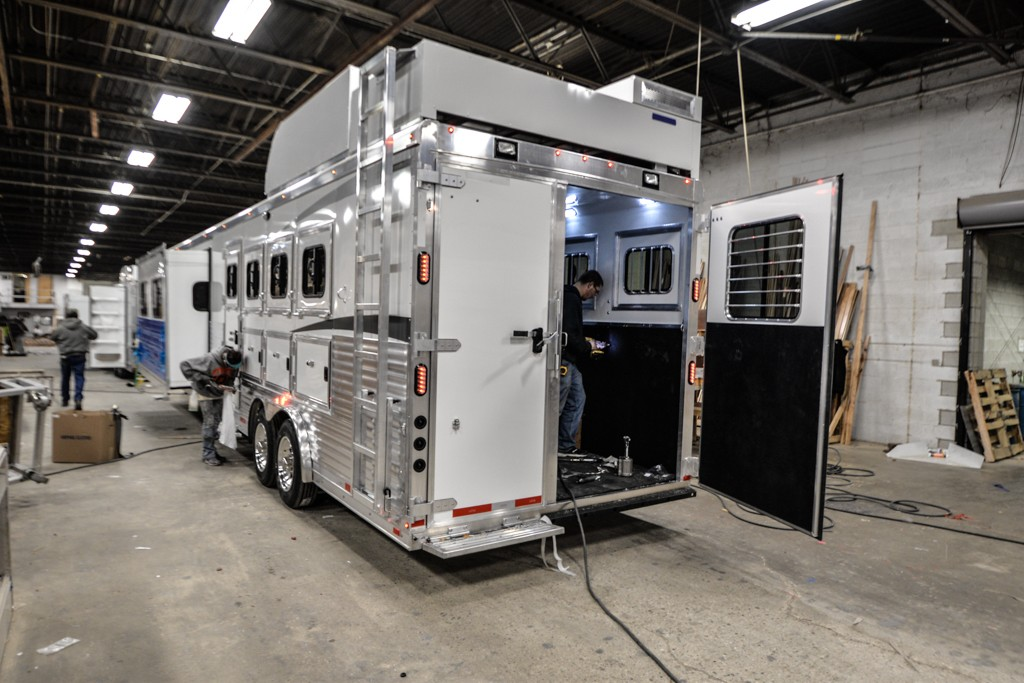 Finishing Touches to a Bighorn Horse Trailer