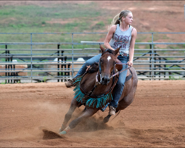 Josie Trotter, Barrel Racing