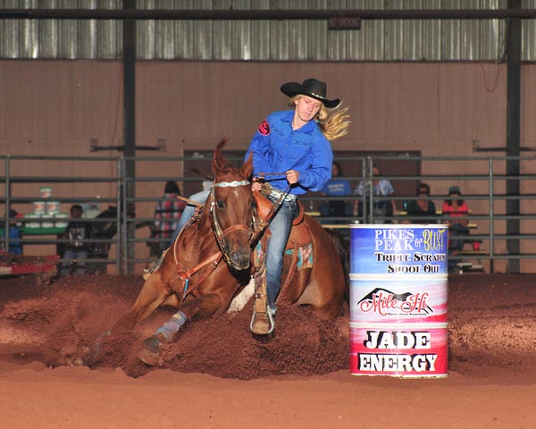 Kelly Brauns, Barrel Racing