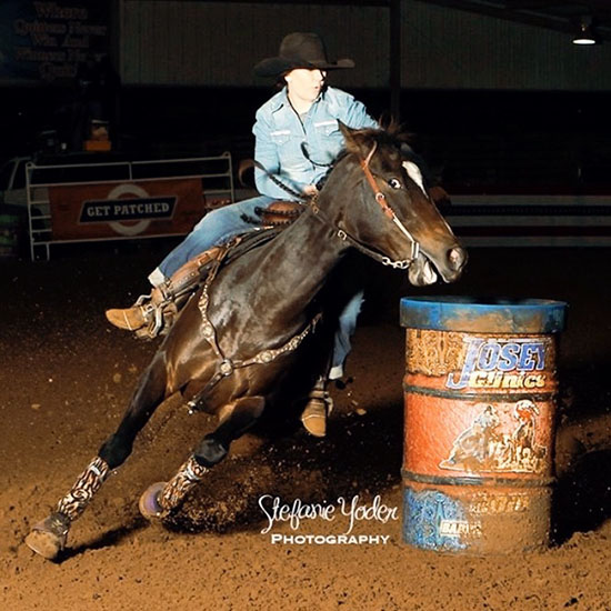 Aimee Hebert, Barrel Racing