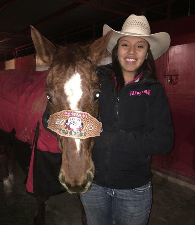 Brandy Begay, Barrel Racing