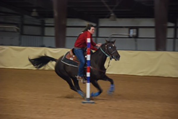 Shelly Lewis, Barrel Racing