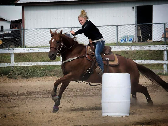 Victoria Fey, Barrel Racing
