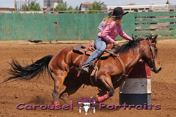 Jessie May Plechaty, Barrel Racing