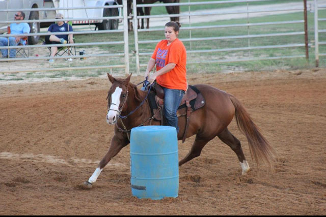 Sierra White, Barrel Racing