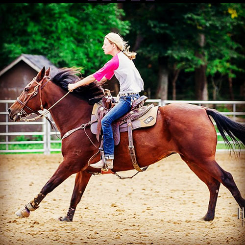 Carlee Jo Huston, Barrel Racing