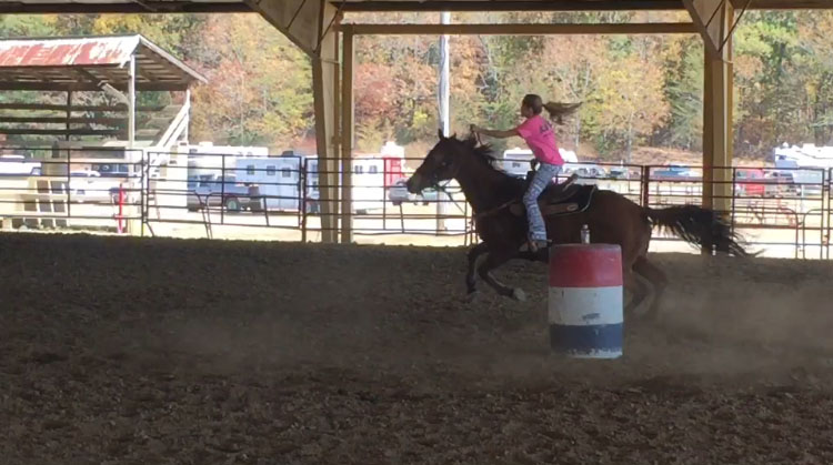 Chloe Gibson, Barrel Racing
