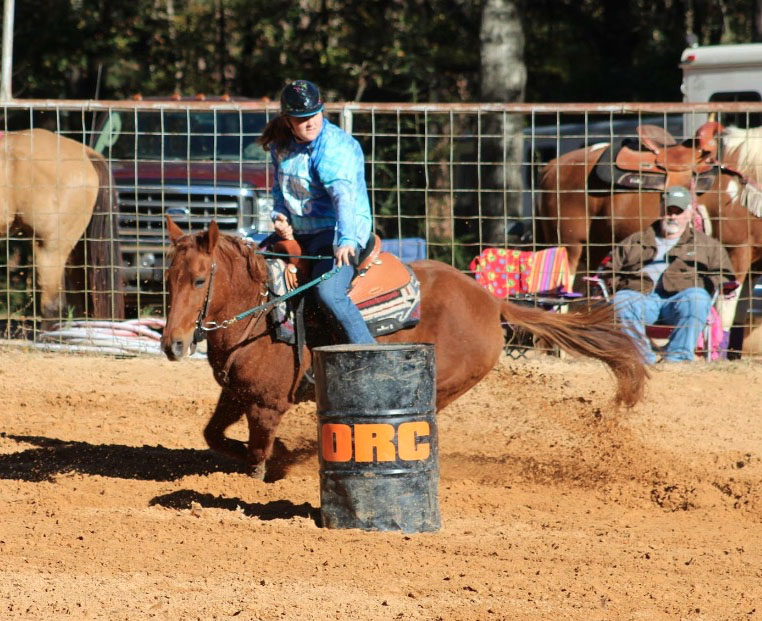 Anna Houck, Barrel Racing