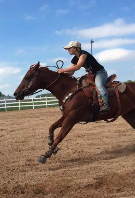 Carmen Jorns, Barrel Racing