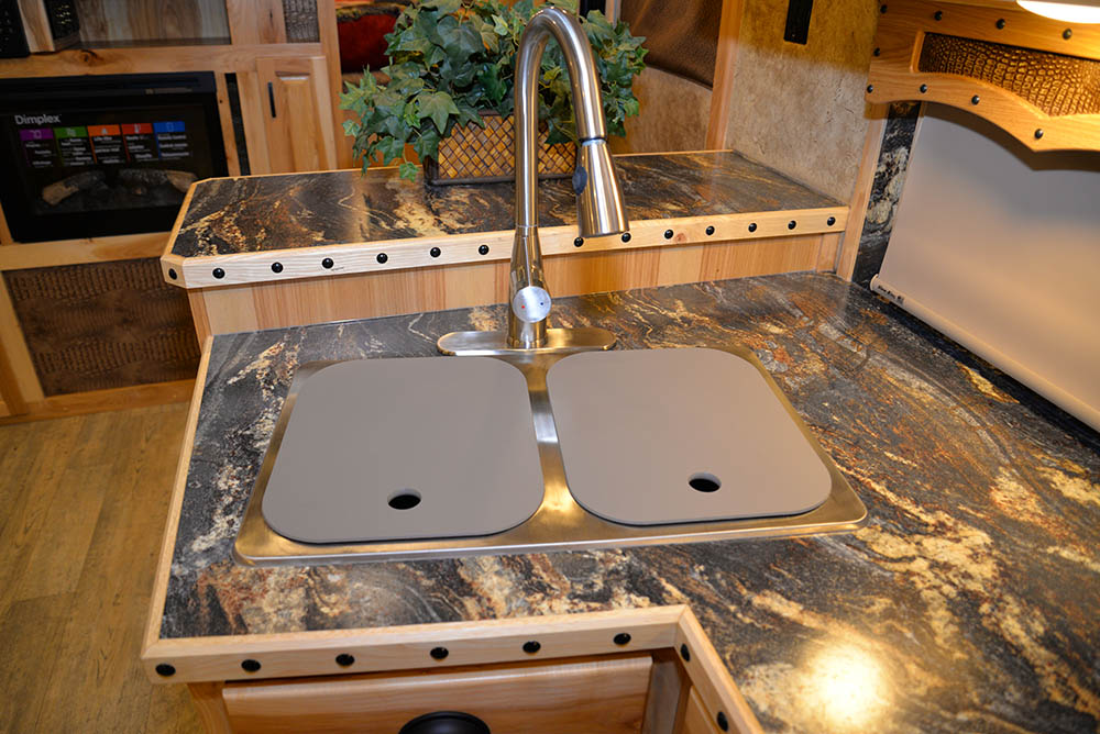 Black Acrylic Rv Kitchen Sink