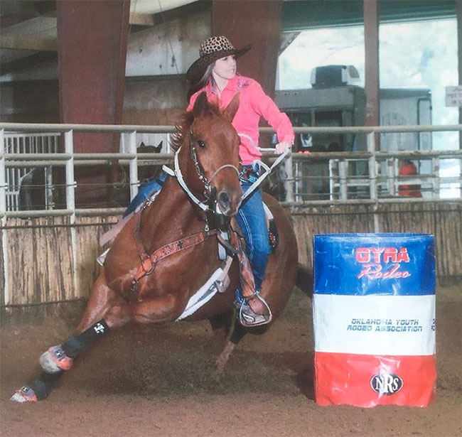 Kyla Faulkenberry, Barrel Racing