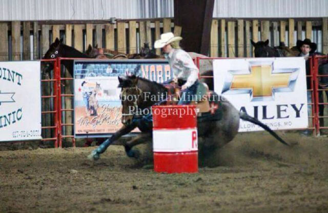 Samantha Mayberry, Barrel Racing