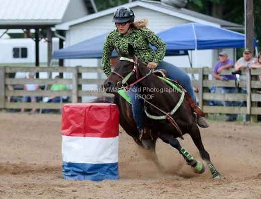 Alexis Ranck, Barrel Racing