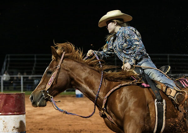 Cate Gibson, Barrel Racing