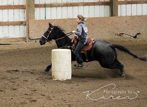 Maddie Alvear, Barrel Racing