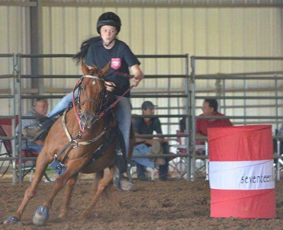Maddie Hayes, Barrel Racing