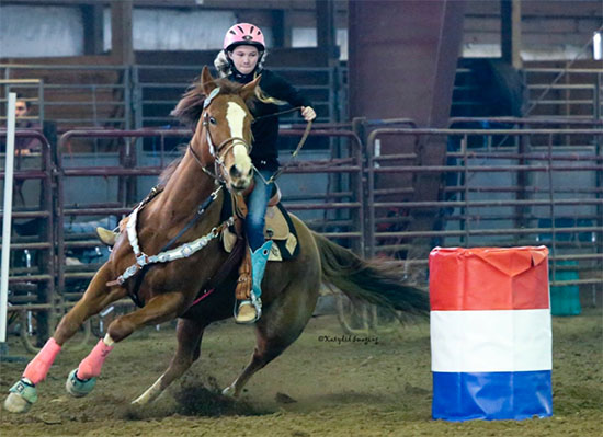 Penelope Keegan, Barrel Racing