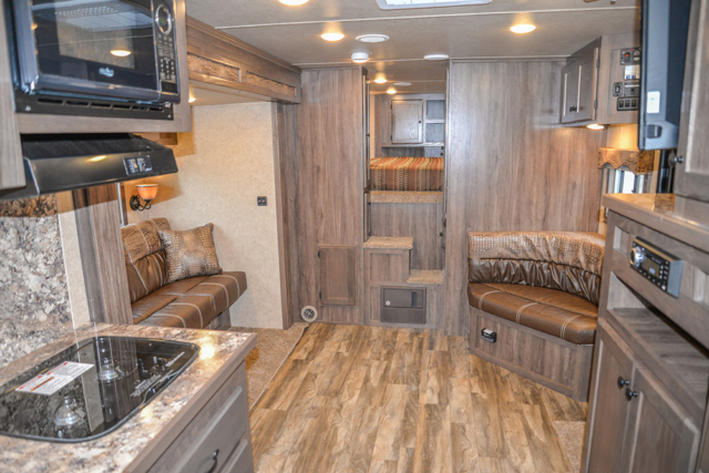 Living Area in a C8X15CL - Charger Edition Horse Trailer | Lakota Horse Trailers