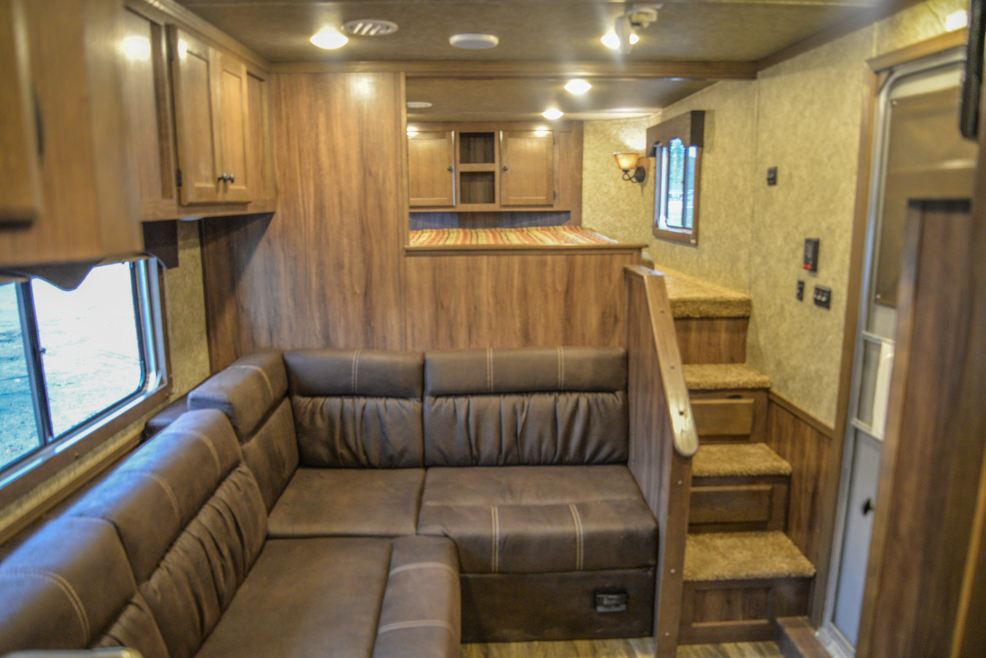 Living Area in a C8X14LSR - Charger Edition Horse Trailer | Lakota Horse Trailers