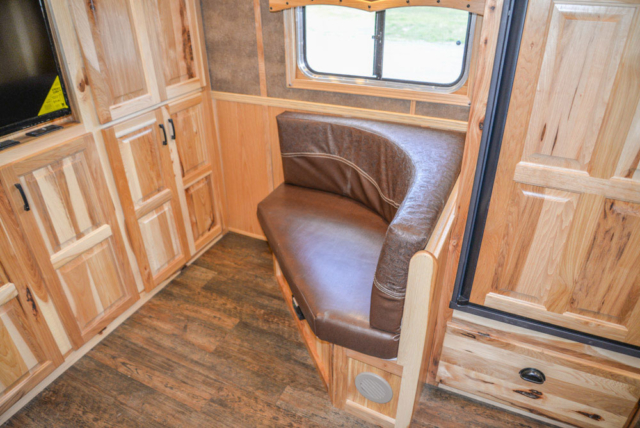 Corner Lounge in a BH8X16CL - Bighorn Edition Horse Trailer | Lakota Horse Trailers