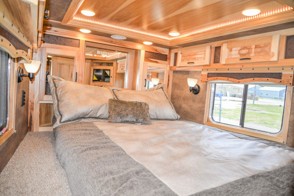 Bedding Area in a BH8X16CL - Bighorn Edition Horse Trailer | Lakota Horse Trailers