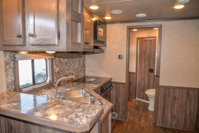 Kitchen in a C8X15CE - Charger Edition Horse Trailer | Lakota Horse Trailers