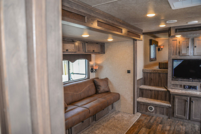 Living Area in a C8X15CE - Charger Edition Horse Trailer | Lakota Horse Trailers