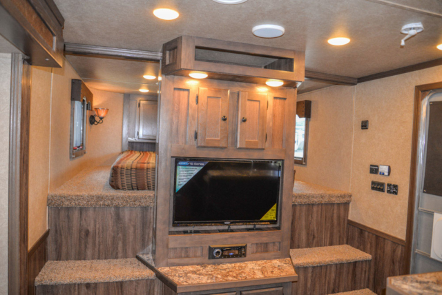 Center Entertainment in a C8X15CE - Charger Edition Horse Trailer | Lakota Horse Trailers