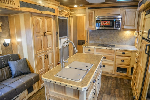 Kitchen in a Bighorn BH8X192SI | Lakota Trailers