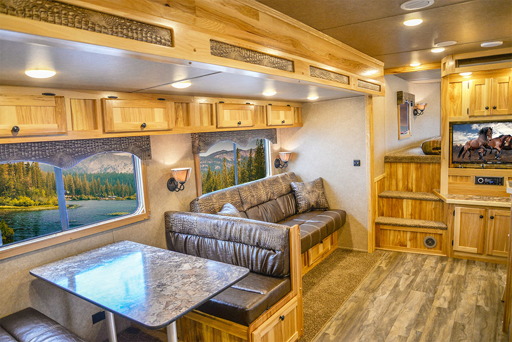 Living Area in a C8X18CE - Charger Edition Trailer | Lakota Trailers