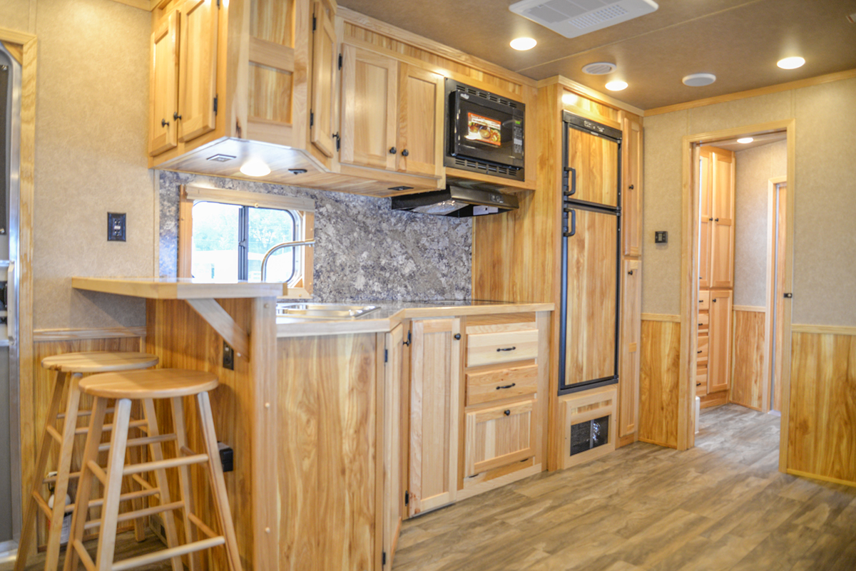 Kitchen Area in a C8X18CE - Charger Edition Trailer | Lakota Trailers