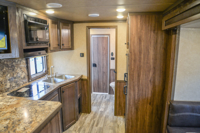 Kitchen in Charger CTH81215SRB | Lakota Trailers