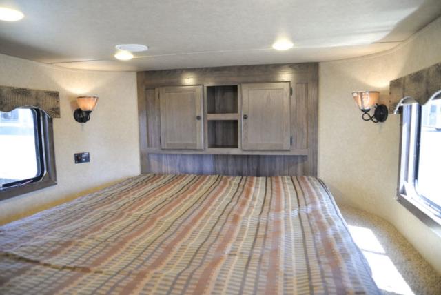 Bedroom in Charger C8X17SRB 9'U | Lakota Trailers