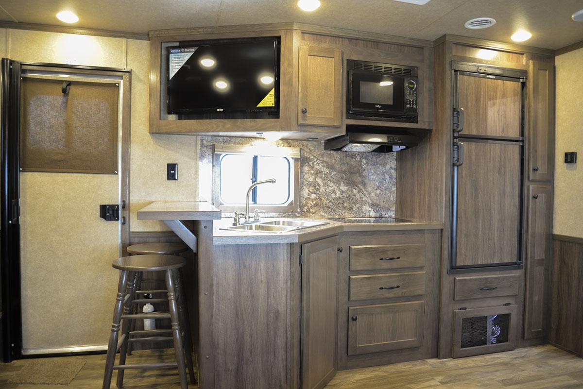 Kitchen in Charger C8X17SRB 9'U | Lakota Trailers