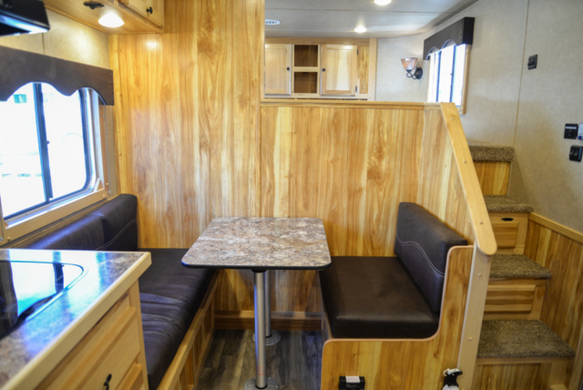 Dinette in Charger C8X11DR | Lakota Trailers