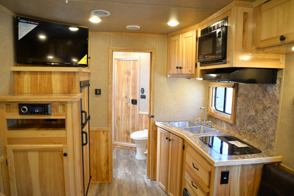 Kitchen in Charger C8X11DR | Lakota Trailers