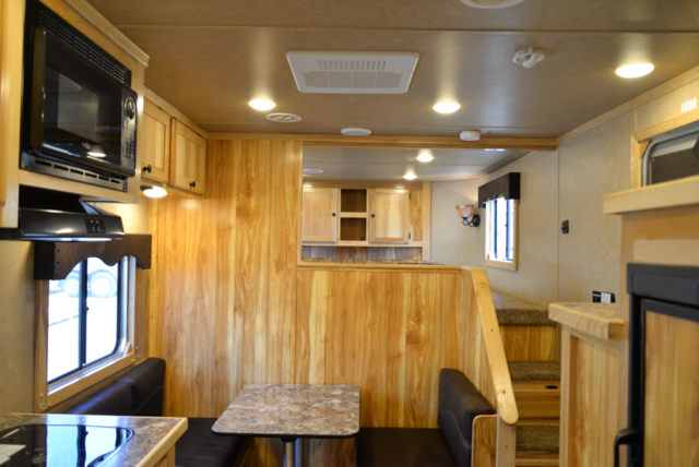 Living Space in Charger C8X11DR | Lakota Trailers