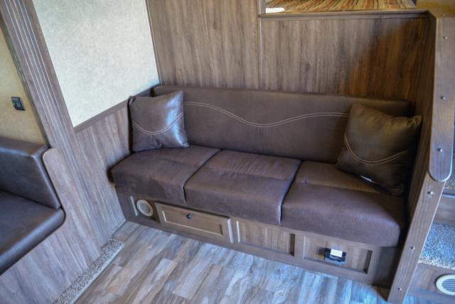 Sofa in Dinette in C8X15SOR9S | Lakota Trailers