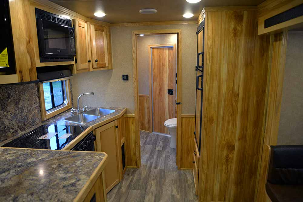 Kitchen in Charger C8X15SRB | Lakota Trailers