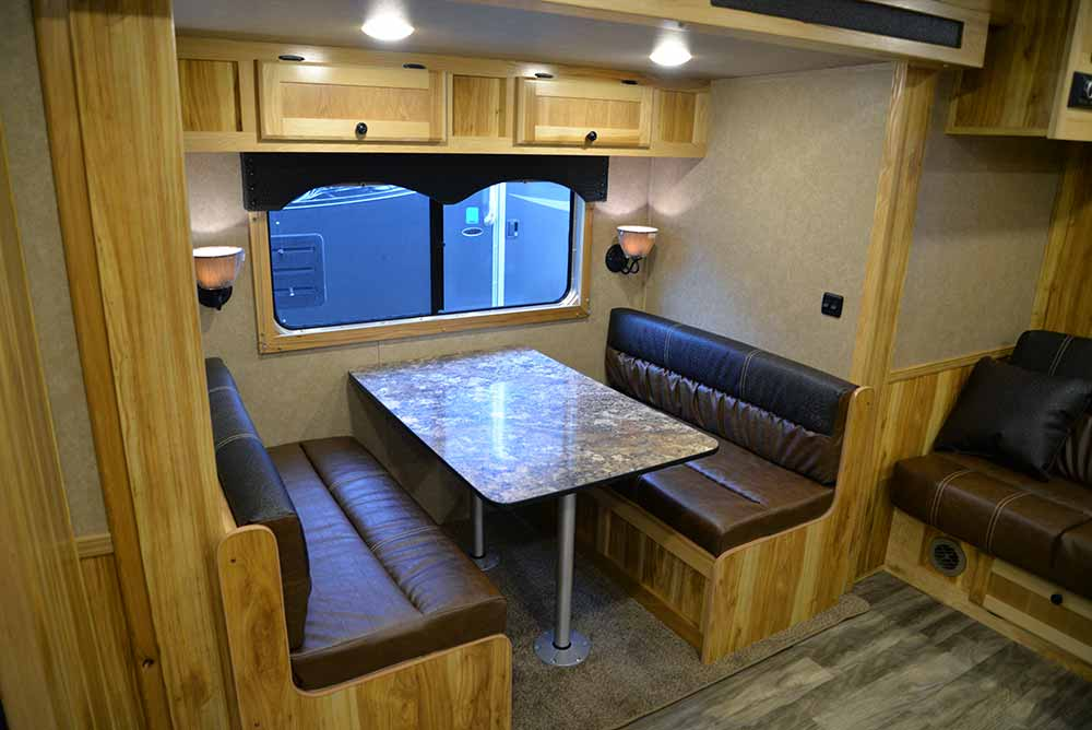 Dinette in Charger C8X15SRB | Lakota Trailers