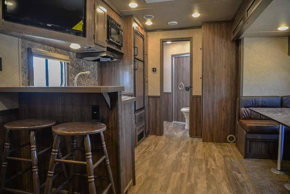 Kitchen in Charger C8X17SRB 9'U   Lakota Trailers