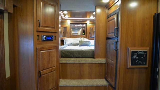 Bedroom in Bighorn BH8X11RK | Lakota Trailers