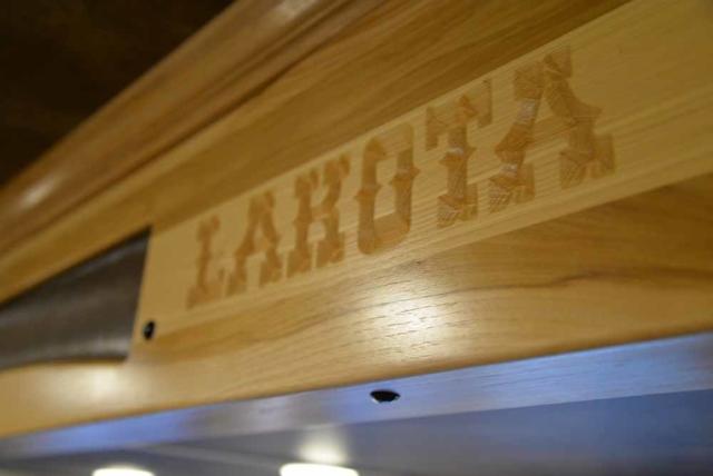 Lakota carving in BH8X19T2S Bighorn | Lakota Trailers