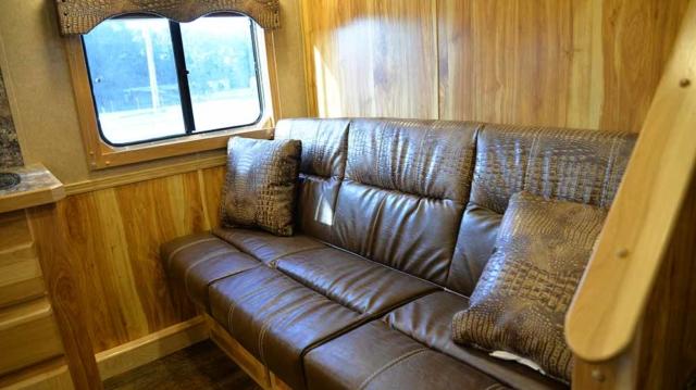 Sofa in Charger C8X9SR | Lakota Trailers