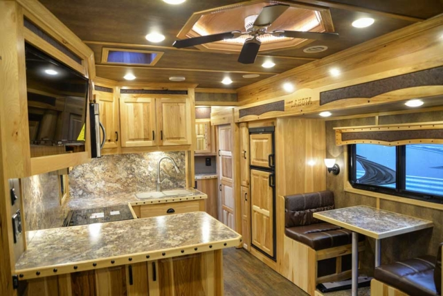 Living space in 2019.5 BH8X17BSB | Lakota Trailers