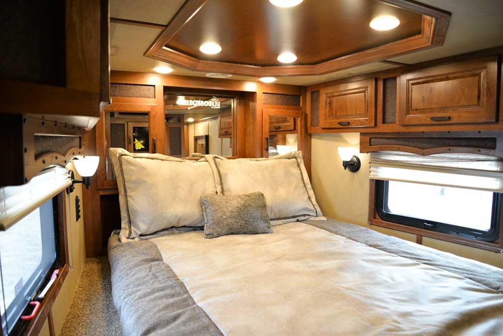 Bedroom in 2019.5 Bighorn BH8X18CE   Lakota Trailers