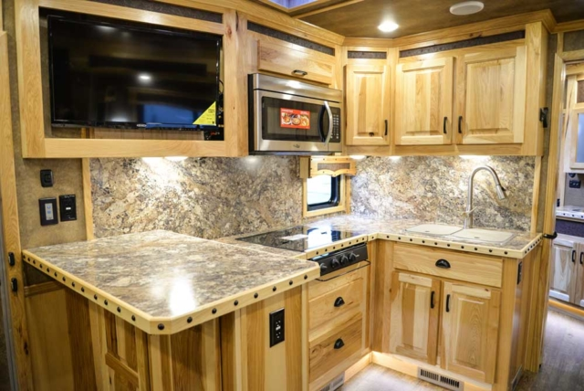 Kitchen in 2019.5 BH8X17BSB | Lakota Trailers