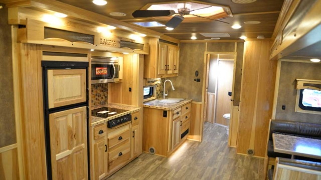 Kitchen in 2019.5 Bighorn BH8X192S| Lakota Trailers